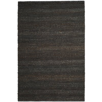 Jean Natural Fiber Hand-Woven Charcoal Area Rug Rug Size: Rectangle 5 x 8