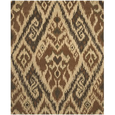 Camden Hand Tufted Brown Area Rug Rug Size: Rectangle 8 x 10
