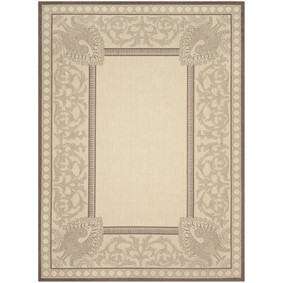 Catori Natural / Chocolate Outdoor Area Rug Rug Size: Rectangle 710 x 11