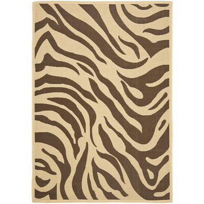 Almada Cove Beige/Brown Indoor/Outdoor Area Rug Rug Size: Rectangle 66 x 96