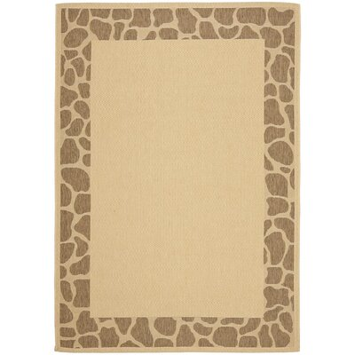 Alver Lake Beige/Brown Indoor/Outdoor Area Rug Rug Size: Rectangle 66 x 96