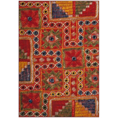 Azilal Orange Area Rug Rug Size: Rectangle 51 x 76