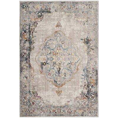 Fitzhugh Light Gray/Blue Area Rug Rug Size: Rectangle 4 x 6