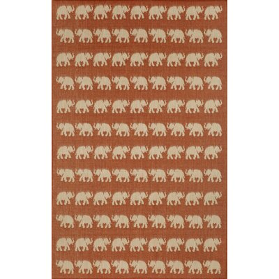 Slimane Elephants Indoor/Outdoor Rug Rug Size: Rectangle 411 x 76