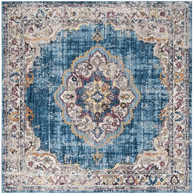 Fitzhugh Blue Area Rug Rug Size: Square 7