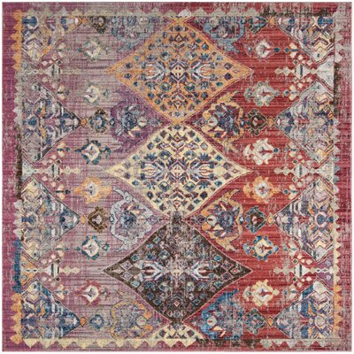 Culross Rose/Purple Area Rug Rug Size: Square 7