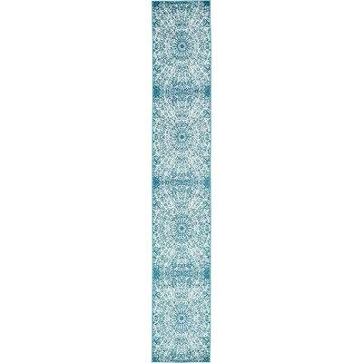 Keswick Turquoise Area Rug Rug Size: Runner 2 x 13