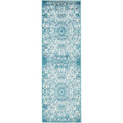 Keswick Turquoise Area Rug Rug Size: Runner 2 x 67