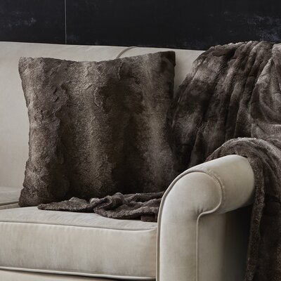 West Line Throw Pillow Color: Chocolate