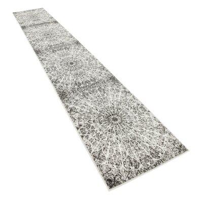 Keswick Dark Gray/Ivory Area Rug Rug Size: Runner 2 x 13