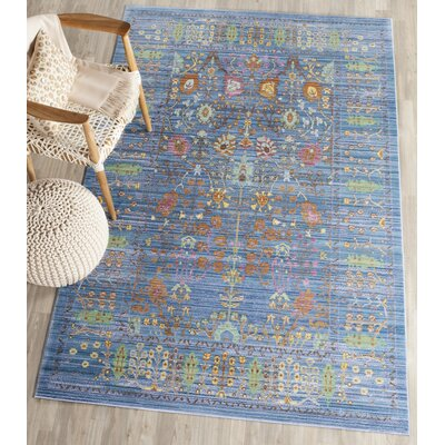 Misael Blue Area Rug Rug Size: Rectangle 5 x 8