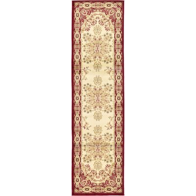 Anzac Cream Area Rug Rug Size: Runner 27 x 10