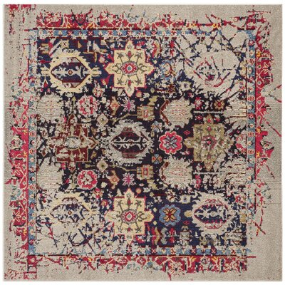 Solum Gray/Multi Area Rug Rug Size: Square 5
