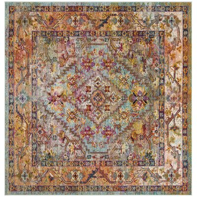Timpson Orange Area Rug Rug Size: Square 7