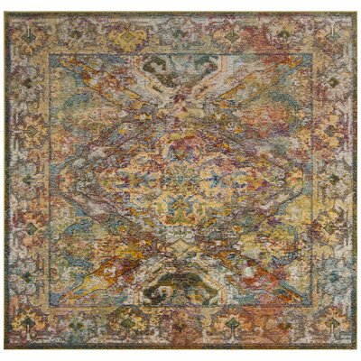 Servin Orange Area Rug Rug Size: Square 7