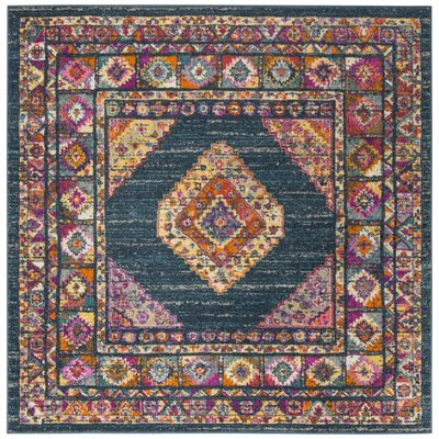 Carrillo Blue/Fuchsia Area Rug Rug Size: Square 67