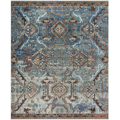 Wooten Blue/Light Blue Area Rug Rug Size: Rectangle 10 x 14