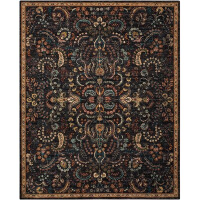 Sahana Black/Brown Area Rug Rug Size: Rectangle 8 x 106