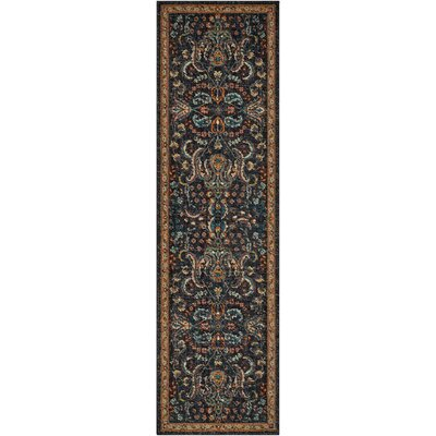Sahana Black/Brown Area Rug Rug Size: Runner 23 x 8