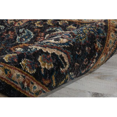 Sahana Black/Brown Area Rug Rug Size: Rectangle 92 x 125