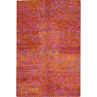 One-of-a-Kind Emmitt Hand-Woven Red/Gold Indoor Area Rug