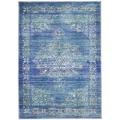 Devan Teal Indoor Area Rug Rug Size: Rectangle 2 x 3