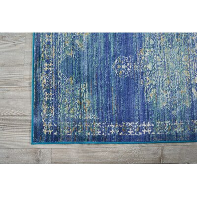 Devan Teal Indoor Area Rug Rug Size: Rectangle 3'11