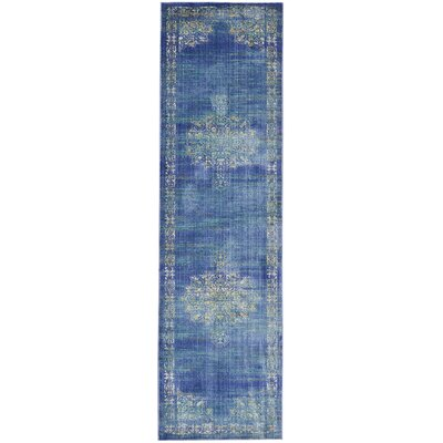 Devan Teal Indoor Area Rug Rug Size: Runner 23 x 71