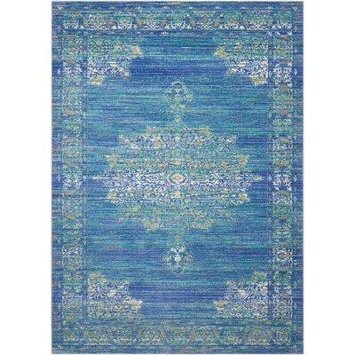 Devan Teal Indoor Area Rug Rug Size: Rectangle 53 x 73