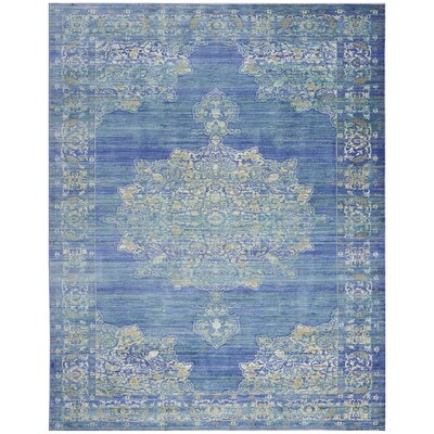 Devan Teal Indoor Area Rug Rug Size: Rectangle 710 x 106