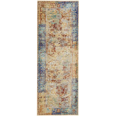 Devan Cream Indoor Area Rug Rug Size: Runner 23 x 71