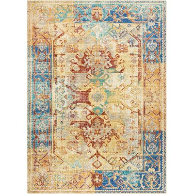 Devan Cream Indoor Area Rug Rug Size: Rectangle 53 x 73