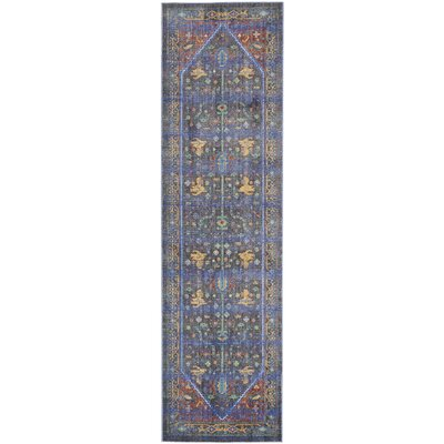 Devan Navy/Red Indoor Area Rug Rug Size: Runner 23 x 71