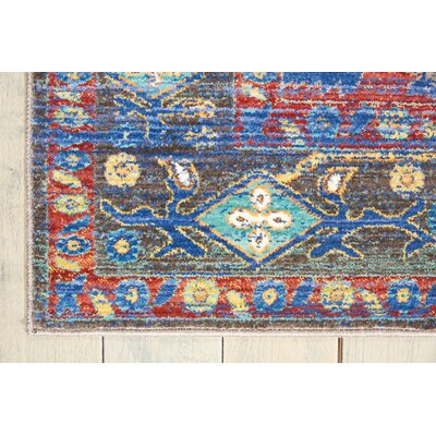 Devan Navy/Red Indoor Area Rug Rug Size: Rectangle 311 x 511