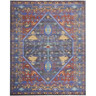 Devan Navy/Red Indoor Area Rug Rug Size: Rectangle 710 x 106