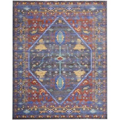 Devan Navy/Red Indoor Area Rug Rug Size: Rectangle 710 x 106