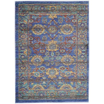 Devan Blue Indoor Area Rug Rug Size: Rectangle 2 x 3