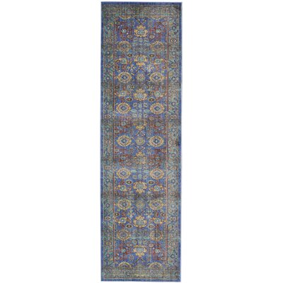 Devan Blue Indoor Area Rug Rug Size: Runner 23 x 71