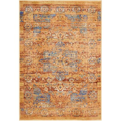 Devan Blue/Russet Indoor Area Rug Rug Size: Rectangle 2 x 3