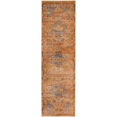 Devan Blue/Russet Indoor Area Rug Rug Size: Runner 23 x 71