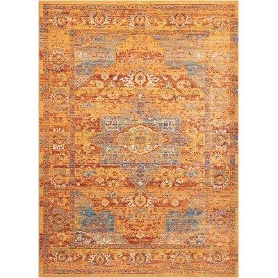 Devan Blue/Russet Indoor Area Rug Rug Size: Rectangle 2 x 511