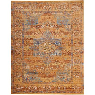 Devan Blue/Russet Indoor Area Rug Rug Size: Rectangle 710 x 106