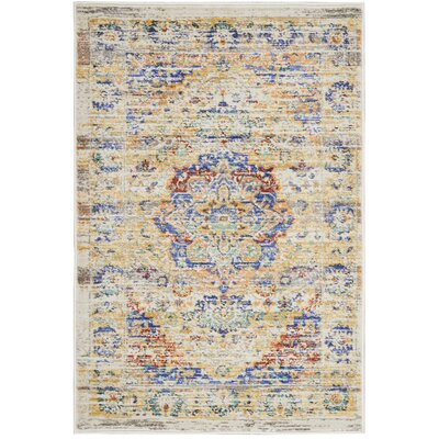 Devan Cream Indoor Area Rug Rug Size: Rectangle 2 x 3