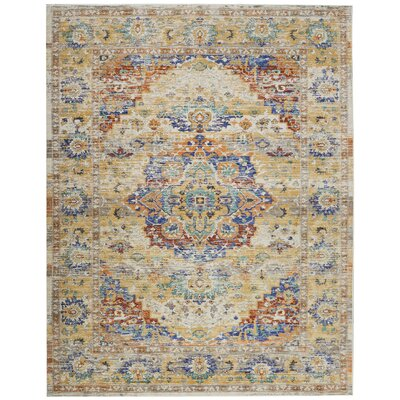 Devan Cream Indoor Area Rug Rug Size: Rectangle 710 x 106
