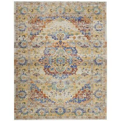 Devan Cream Indoor Area Rug Rug Size: Rectangle 710 x 106