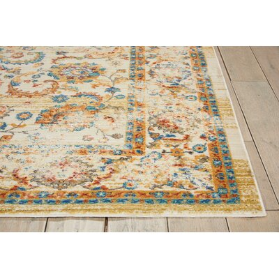 Devan Cream Area Rug Rug Size: Rectangle 2 x 511