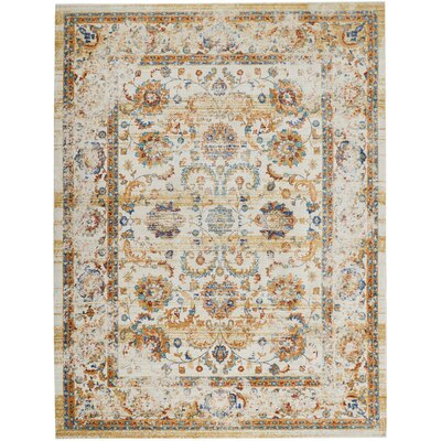 Devan Cream Area Rug Rug Size: Rectangle 710 x 106