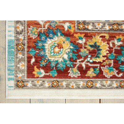 Devan Brown/Blue Indoor Area Rug Rug Size: Rectangle 910 x 132