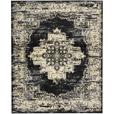 Susan Black Indoor Area Rug Rug Size: Rectangle 710 x 910