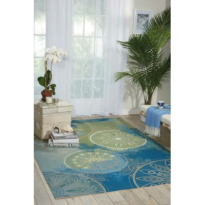 Mamer Blue Indoor/Outdoor Area Rug Rug Size: Rectangle 53 x 75